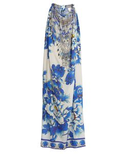 Camilla | Ring Of Roses Drawstring Silk Maxi Dress