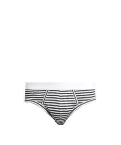 Dolce & Gabbana | Striped Stretch-Cotton Briefs