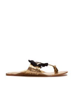 Figue | Evil Eye Embellished Leather Sandals