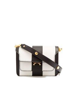 Marni   Trunk Striped Mini Leather Cross-Body Bag