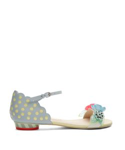 Sophia Webster | Lilico Sequin-Embellished Leather Flat Sandals