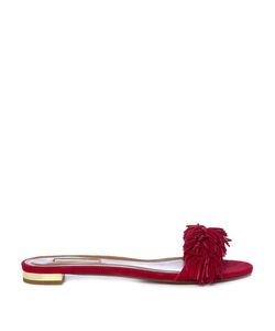 Aquazzura | Wild Thing Suede Slides
