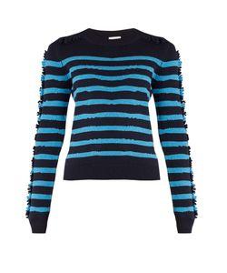 Barrie | Breton-Striped Cashmere Sweater