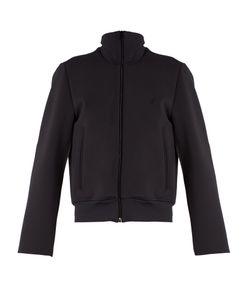 Balenciaga   Logo-Embroide Scuba-Jersey Jacket