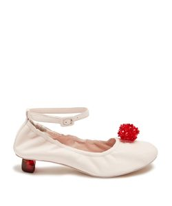 Simone Rocha | Embellished Perspex-Heel Leather Pumps