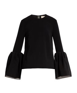 Roksanda | Truffaut Bell-Sleeved Stretch-Cady Top