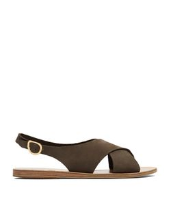 Ancient Greek Sandals | Maria Nubuck Sandals