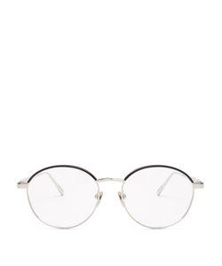 Linda Farrow   Round-Frame Plated Glasses