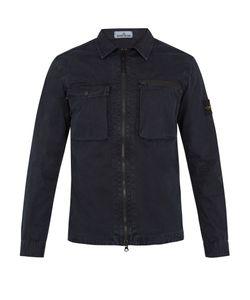 Stone Island | Point-Collar Cotton-Gabardine Overshirt