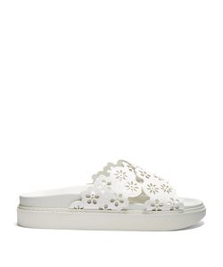 Simone Rocha | Flower-Embellished Leather Slides