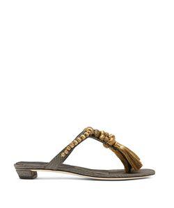SANAYI 313   Bracciale Tassel Faille Sandals
