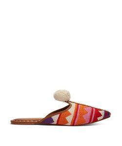 Figue | Soulika Pompom-Embellished Leather Slides