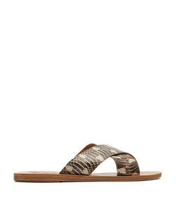 Ancient Greek Sandals | Thai Dendrofila Snake-Effect Leather Sandals