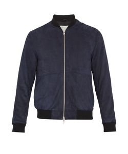 Oliver Spencer | Contrast-Edge Suede Bomber Jacket