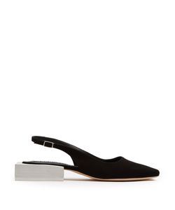 Jacquemus | Sculptured-Heel Slingback Suede Pumps