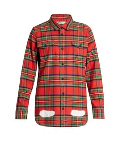 Off-White | Tartan Spray-Paint Cotton Shirt