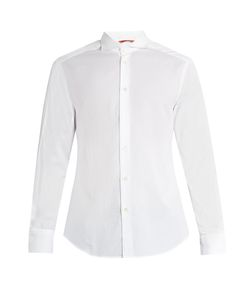 BARENA VENEZIA | Spread-Collar Cotton-Jacquard Shirt