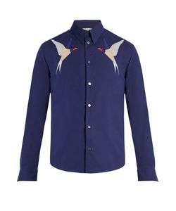 Stella McCartney | Swallow-Appliqué Cotton Shirt
