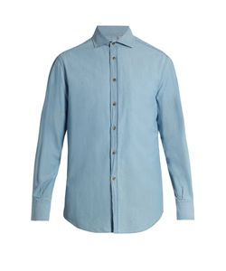 Brunello Cucinelli | French-Collar Cotton-Denim Shirt