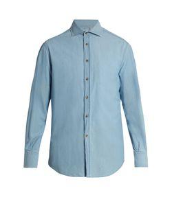 Brunello Cucinelli | French-Collar Cotton-Denim Shirt