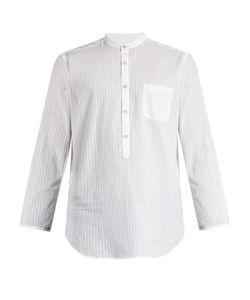 Oliver Spencer | Granddad-Collar Cotton Shirt