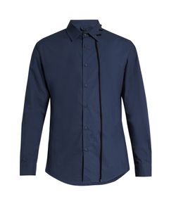 Craig Green | Laced-Collar Long-Sleeved Cotton Shirt