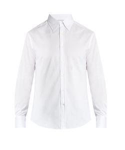 Brunello Cucinelli | Button-Down Collar Cotton-Jersey Shirt