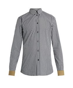 Givenchy | Contrast-Cuff Checked Cotton Shirt