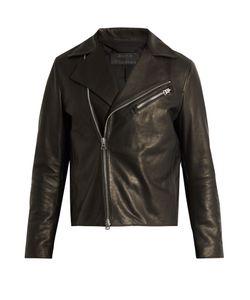 ACNE STUDIOS | Axl Suede-Panel Leather Jacket