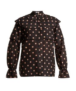 Vilshenko | Orsha Peony-Print Cotton And Silk-Blend Blouse