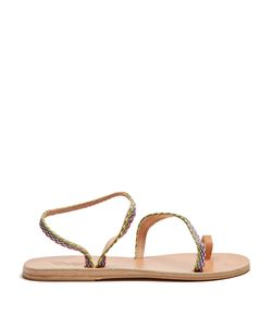 Ancient Greek Sandals | Apli Eleftheria Raffia And Leather Sandals