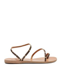 Ancient Greek Sandals | Apli Eleftheria Snakeskin-Effect Leather Sandals