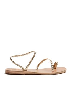 Ancient Greek Sandals | Eletheria Plaited-Leather Sandals