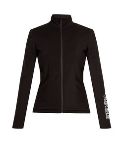Fendi   Fleece-Lined Zip-Through Performance Sweatshirt