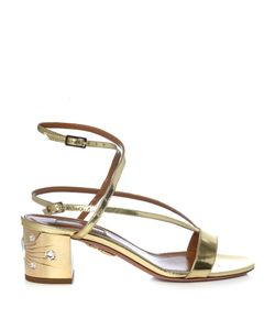 Aquazzura | Sunset Siren Leather Block-Heel Sandals