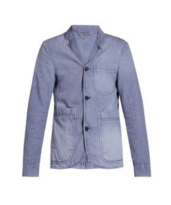 Burberry | Single-Breasted Herringbone Cotton-Blend Blazer