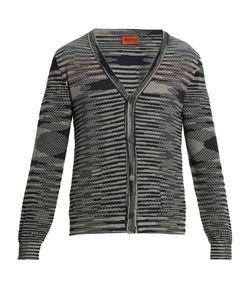 Missoni | Striped-Intarsia Cotton-Knit Cardigan