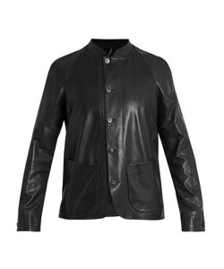 HELBERS | Patch-Pocket Leather Jacket