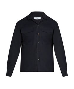 AMI | Notch-Lapel Cotton-Blend Shirt