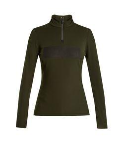 Fendi   Embossed-Logo Fleece-Lined Performance Sweatshirt