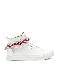 Buscemi | 100mm Weave High-Top Leather Trainers