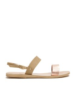 Ancient Greek Sandals | Clio Leather And Suede Sandals
