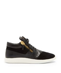 Giuseppe Zanotti | Runner Mid-Top Leather And Suede Trainers