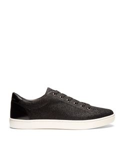 Dolce & Gabbana | Low-Top Glitter And Leather Trainers