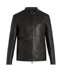 Fendi | Patch-Pocket Leather Jacket