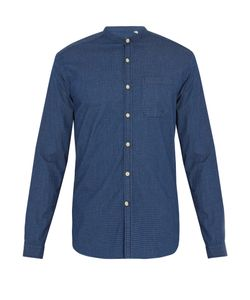 Oliver Spencer | Granddad-Collar Stretch-Cotton Shirt