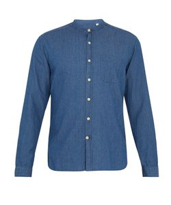 Oliver Spencer | Granddad-Collar Denim Shirt