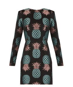 House Of Holland | Pineapple Long-Sleeved Jacquard Dress