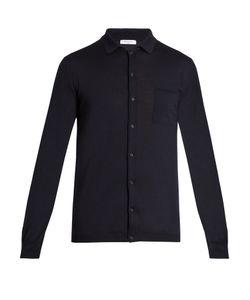 Boglioli | Point-Collar Wool-Knit Cardigan