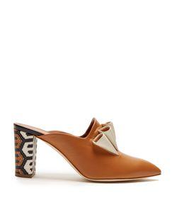 Malone Souliers | Hazel Geometric Heel-Print Leather Mules